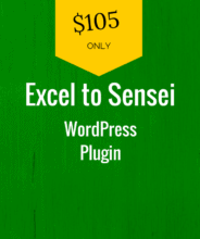 excel to wordpress sensei