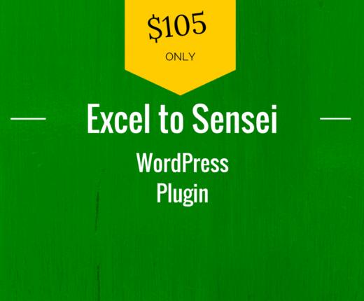 excel to wordpress sensei