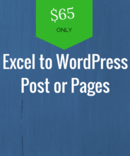 excel to wordpress post or pages plugin