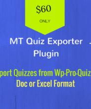 export quizzes