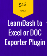 learndash to excel or doc exporter plugin