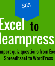 excel to learnpress